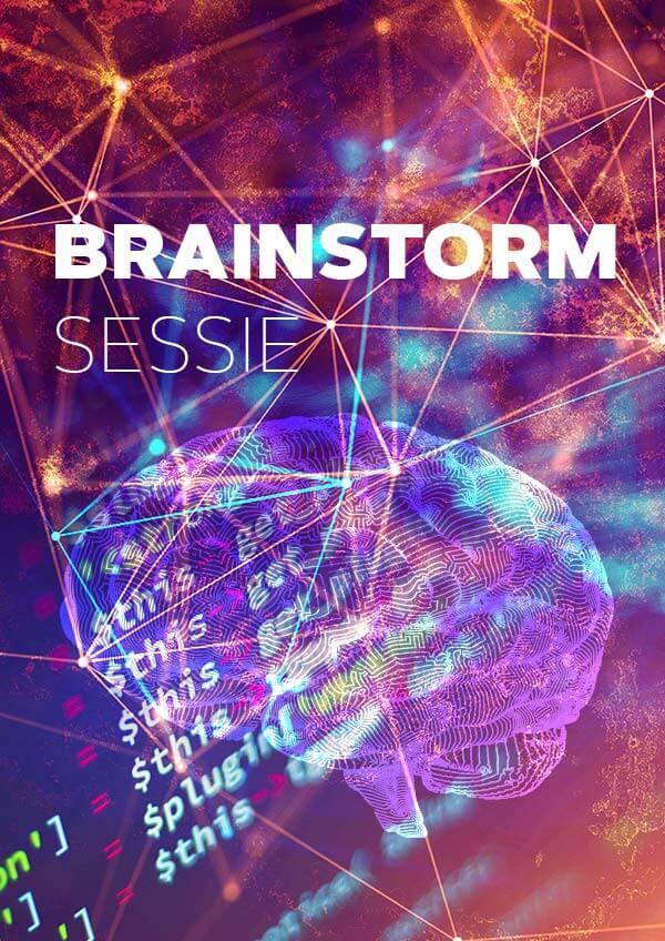 Brainstormsessie met Brent Wouda